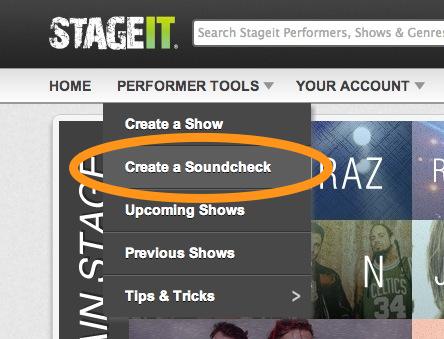 Create soundcheck