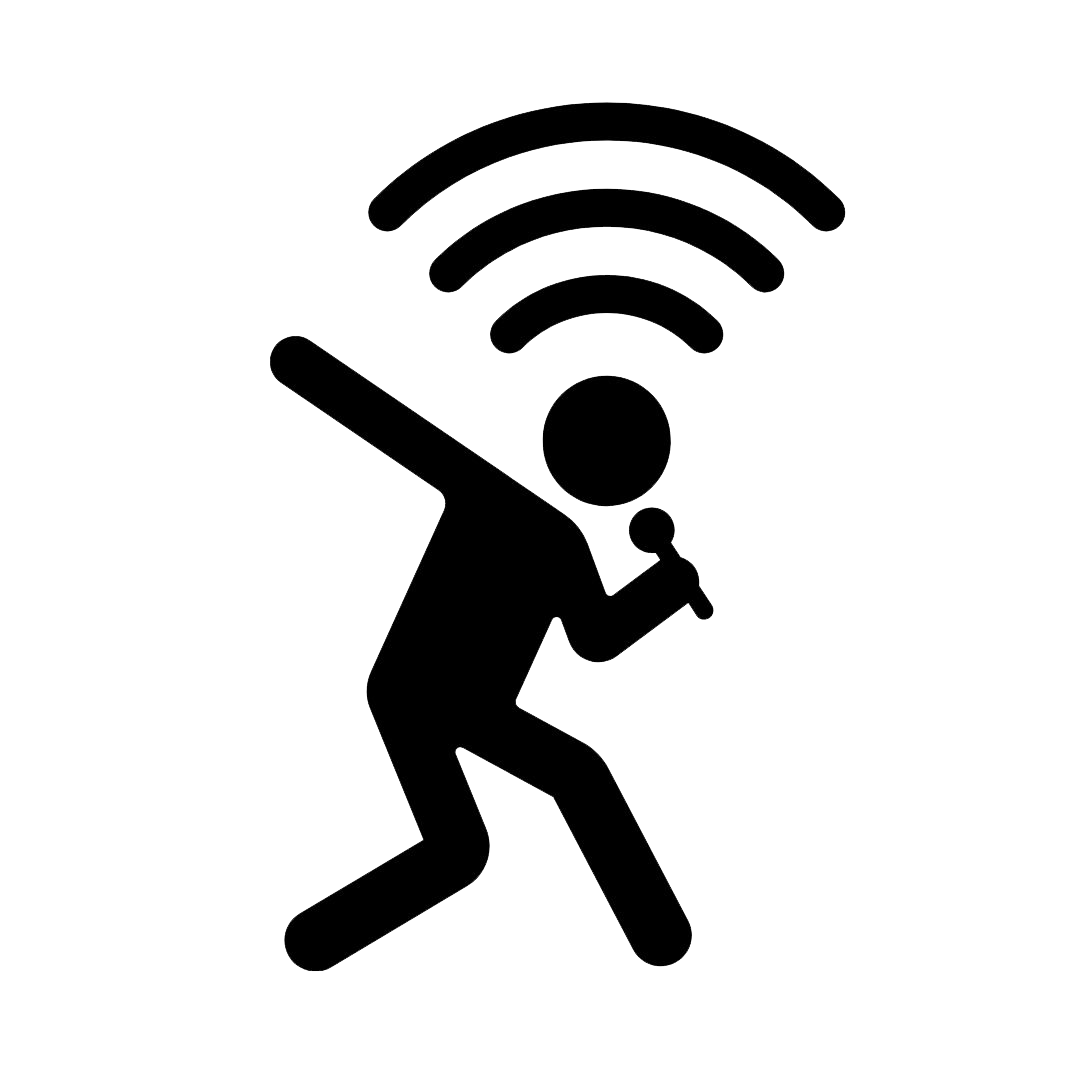 Stagies person holding a microphone icon